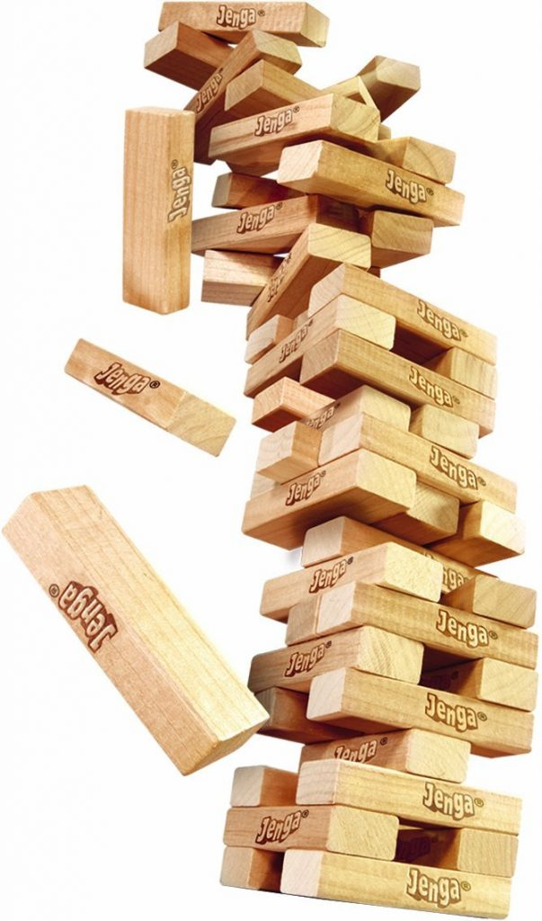 Jenga, The Game For Very Steady Hands.